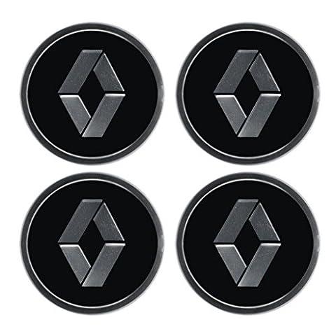 Aufkleber-Set mit Renault-Emblem, für Felgendeckel, Radstern, Raddeckel, Radzierblenden, 4