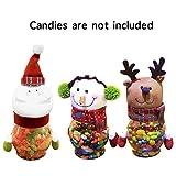Weihnachten Bonbonglas, GS 3 Stücke Plüsch Kunststoff Weihnachten Bonbonglas Kreative Geschenk Container für Hauptdekorationen