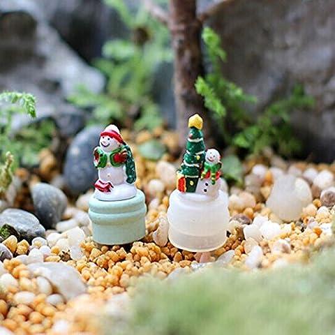 Bluelover Ornements De Pin Miniature Bricolage Bonhomme De Neige En Pot Plante Jardin Decor