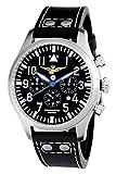 Reloj Aeronautica Militare Hombre Modelo cuarzo satinado y negra–cavq1C1