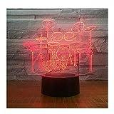 Die besten Romantische Zeit Schreibtischlampen - LED Schreibtischlampe Bunte Farbe Fernbedienung Touch 3D Nachtlicht Bewertungen