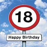Twizler Geburtstagskarte für Teenager mit Straßenschild-Motiv zum 18ten Geburtstag
