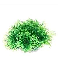 Biniwa Plantas acuáticas, decoración de pecera, césped Verde Artificial, ...