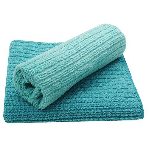 Juego de 2diseño microfibra bayetas en color azul. Paño Microfibra Set 80364de paños secos, para limpieza de paños secos. Nacido., lavable