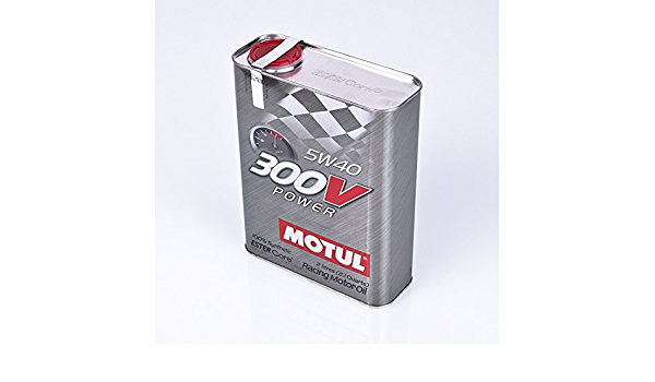 6 Litre Sae 5 W40 Motul 300 V Power Motor Oil Auto