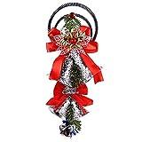 XINSU Natale Campana appesa Ornamenti in Legno Babbo Natale Xmas Tree Ciondolo Decor, Natale Creativo Carillon del Vento Ciondolo, Albero di Natale Decor (Oro) (Color : Silver)