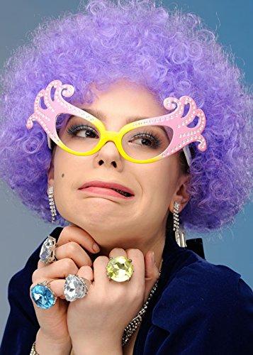 (Lila Dame Edna Stil Curly Pop Perücke)