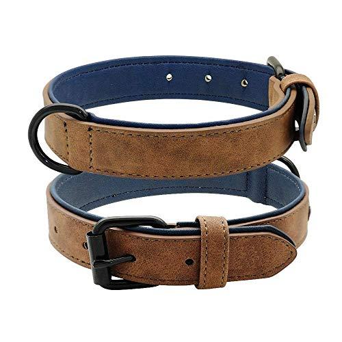 Leder Hundehalsband Gr. L (Braun)