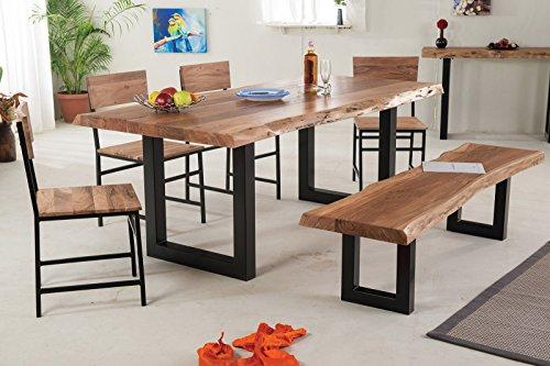 SEDEX BELLARY Esszimmertisch 160/90 cm Esstisch Tisch Holztisch Küchentisch Massivholz Akazie im Landhausstil