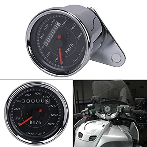 Aochuang Moto universel double Compteur de vitesse tachymètre Speedo Mètre LED pour Honda Harley Kawasaki Suzuki Yamaha
