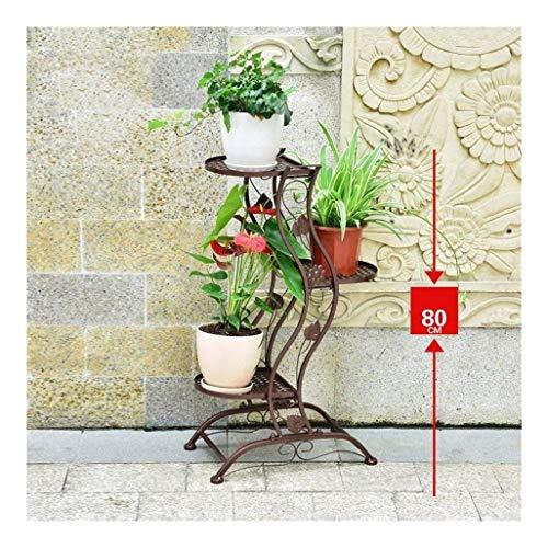 Flower Stand Plant Stands Plant Flower Pot Rack-Iron Art Estante de  Almacenamiento de jardín Balcón Interior y Exterior Estante de  Almacenamiento ...