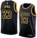 Maglia da Uomo, NBA Lebron James, Maglia Los Angeles Lakers Retro n.23, Maglia Vintage da Giocatore di Basket, Ricamo Traspirante e Resistente all'Usura, T-Shirt da Uomo e da Uomo