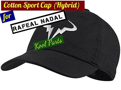 Kool Parts  Rafael Nadal Cotton Sport Caps Hat (Black Colour) 3cad9ed9b24