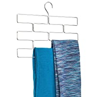 InterDesign Trio Wardrobe Organiser, Metal Trouser Hanger with Eight Sections for Storage, Chrome