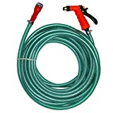 #1: Pepper Agro Heavy Duty Braided Hose with Brass Spray Gun for Car Wash & Gardening 10 Meters