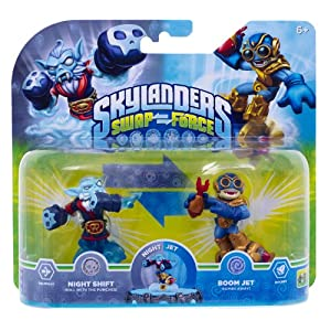 Skylanders Swap Force – Double Pack 3 – Boom Jet, Night Shift (exklusiv bei Amazon.de)