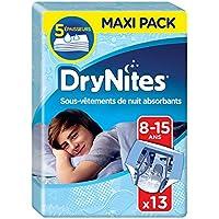 Huggies Drynites 8-15 ans Garçon (27-57kg) - Sous-vêtements de Nuit Absorbants pour Enfants qui font Pipi au Lit - x26 (Lot de 2 Paquets de 13)