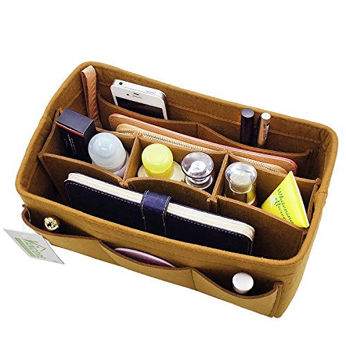 Donne Borsa Organizer Pouch Bag Cosmetico Organizzatore Inserisci Viaggi Cosmetic Tasca Marrone