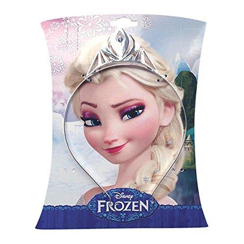 zen Elsa Silber Metall Tiara Krone Mädchen Kleid bis Zubehör (Mädchen Disney Dress Up)