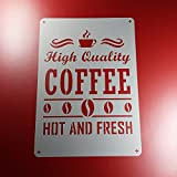 Schablone Coffee Hot and Fresh Schriftzug - BS22