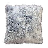 Douceur d'Intérieur Coussin Imitation Fourrure Antartic Polyester Gris 40 x 40 cm