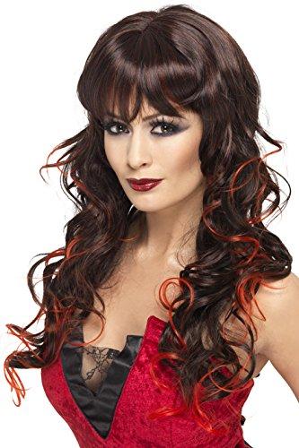 Smiffys Damen Vixen Perücke, Schwarz und Rot, One Size, 33228 (Hübsche Halloween Kostüme Ideen)