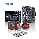 Memory PC Aufrüst-Kit AMD Ryzen 7 1800X AM4 (OctaCore) Summit Ridge 8x 4.0 GHz, 32 GB DDR4 2133Mhz, ASUS Prime B350M-A, USB 3.1, SATA3, 7.1 Sound, M.2 Sockel, GigabitLan, MultimediaKIT, komplett fertig montiert und getestet