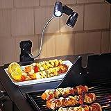 Luce LED super luminosa regolabile per griglia di barbecue, sensibile al tatto, a batteria