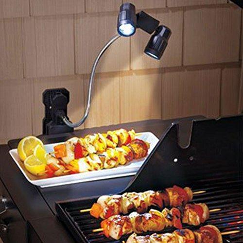 LED BBQ Grill Lampe Licht Leuchten 360 ° Drehung Beleuchtung Nachtlicht Batteriebetrieben langlebig Multi-Funktions für Camping Fischen Kochen Outdoor