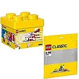 Lego Classic 2er Set 10692 10701 Bausteine-Set + Graue Grundplatte
