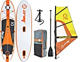 z-ray W1 10 'Windsurfing SUP aufblasbares Stand Up Paddling mit Pumpe/Paddel/Rig/Rucksack, 15,2 cm