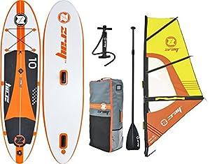 Z-Ray – Aufblasbares Windsurf- und SUP-Set W2 mit Board, Segel, Pumpe, Paddel und Rucksack