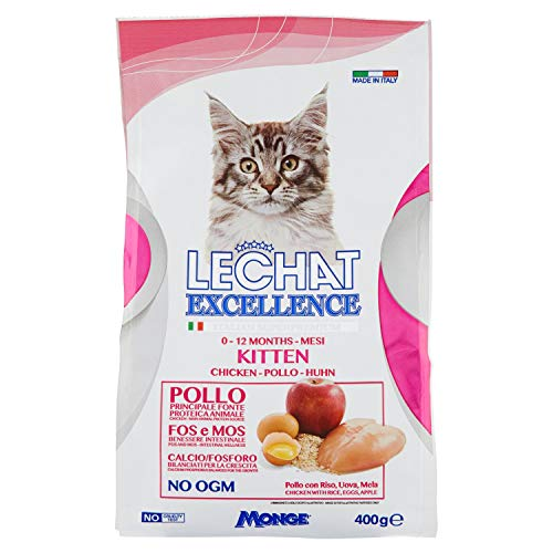 Monge-Cibo di Gatto Le Chat Excellence Kitten Gattini 400Grammi.