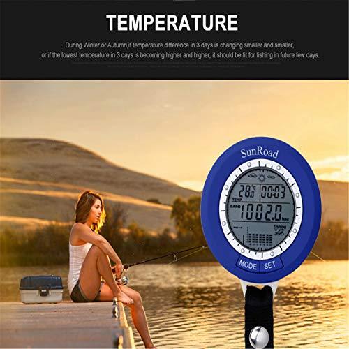 BABIFIS Mini Angeln Barometer Multifunktions LED Digital Outdoor Angeln Höhenmesser Thermometer Wettervorhersage Fish Finder Angeln Finder