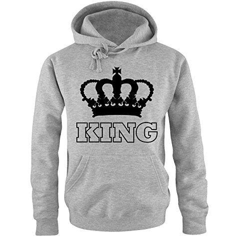 - Krone II - Herren Hoodie - Grau/Schwarz Gr. M ()