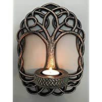 Hunky Dory Gifts Tree Of Life Wall Sconce Tealight Candle Holder Pagan Wiccan Gothic Celtic Knot