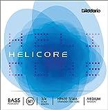 D\'Addario Bowed Jeu de cordes pour contrebasse pizzicato D\'Addario Helicore, manche 3/4, tension Medium