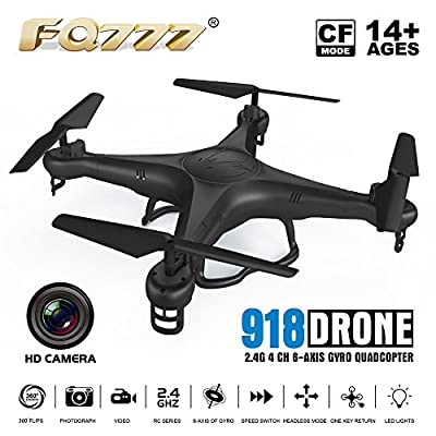 Drone Rc Quadcopter With Cameras FPV WiFi Iphone Control and Remote Control Support One Key to Return Collapsible Drone by FQ