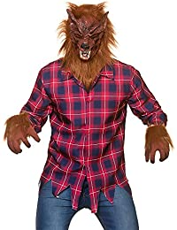 Adult Mens Scary Werewolf Halloween Fancy Dress Costume One Size