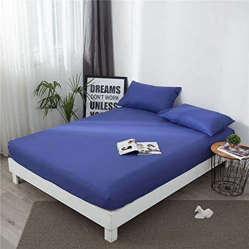 WENXIAOXU Bezug mit Nässeschutz, Atmungsaktiv, Allergie und Anti Milben Schutz für Hausstauballergiker,Einfache Feste Farbe B-7 120 * 200 * 20cm