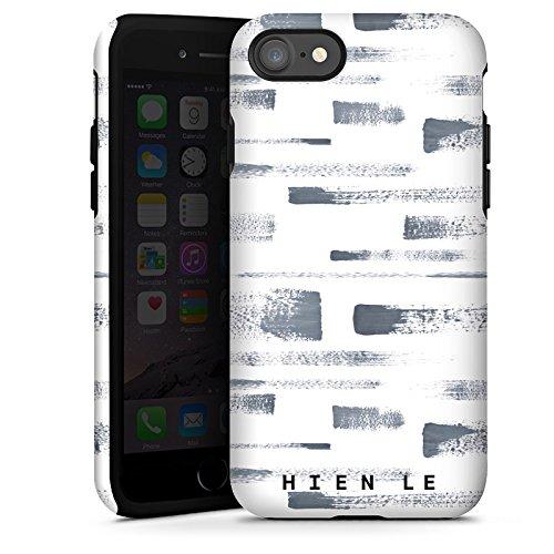 Apple iPhone X Silikon Hülle Case Schutzhülle HIEN LE Fashionweek Streifen Tough Case glänzend