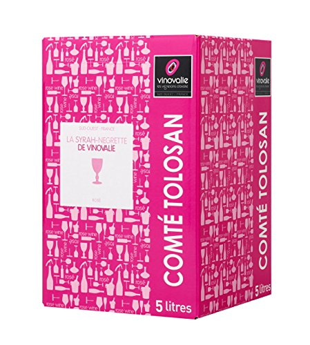 BIB Vin Rosé Négrette-Syrah 5 litres - IGP Comté Tolosa