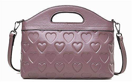 Sacs à main pour femme Xinmaoyuan Chers Sacs à main en cuir sac à main épaule Sac Messenger Sac Twisted Cowboy Purple