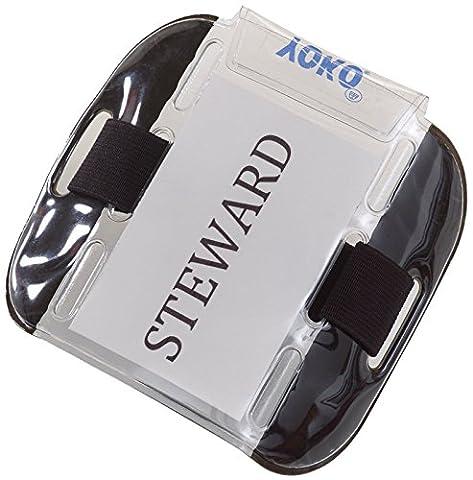 Le Fashion City® Yoko Brassard porte-badge d'identité Sia, de sécurité, de porte superviseur, Guard, EMT, police - Noir - Taille Unique