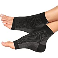 Atlas Athlete Plantar Fasciitis Support - Atlas Compression Foot Sleeve - Best Relief from Heel Spur/​Ankle Pain & Swelling - Premium Quality Sleeves for Men & Women, Improved Circulation + EXERCISE EBOOK & GUARANTEE (1 Pair - Medium) (Sports