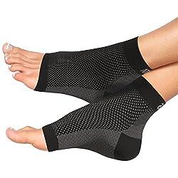 Atlas Fersensporn Bandage Fußbandage - Schmerzlinderung bei Plantarfasziitis, Knöchelschmerzen und Schwellungen - Premium Kompressionssocken für Männer & Frauen