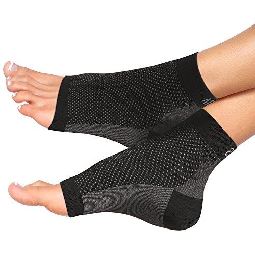 Gepolsterte Knöchel-socken (Fersensporn Bandage - Atlas Fußbandage - Schmerzlinderung bei Plantarfasziitis, Knöchelschmerzen und Schwellungen - Premium Kompressionssocken für Männer & Frauen)
