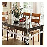 #7: Glitter Collection Table Cloth Water Prof Transparent for 6 Seater TBLCVR1