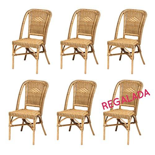 Gebraucht, 6x Rattanstühle SELVA   Korbstühle Set   Braun/Honig Gebraucht  Kaufen Wird