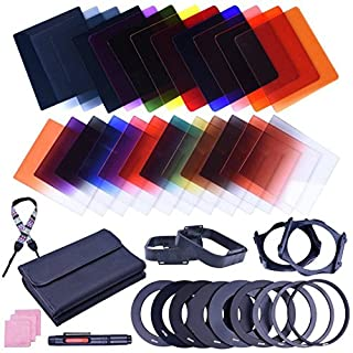 Amazingdeal 38pcs Square 24 Color ND Filter Lens Sets Kit with Filter Holder Adapter